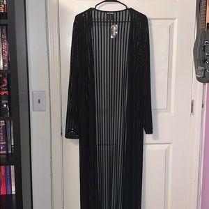 Hot Topic Shadow Stripe Kimono